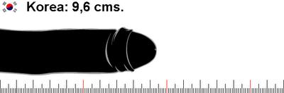 Tamaño promedio del pene en Corea