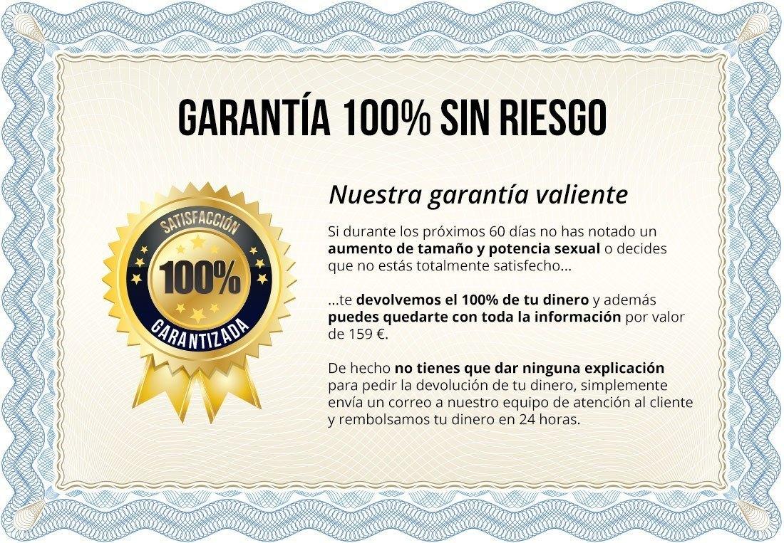 Certificado de Garantía 100% - Programa de Agrandamiento de Pene